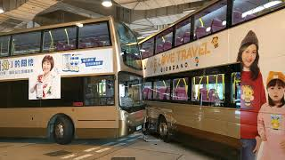 九龍巴士 81C線 兩架81C輕吻一刻 UR662愛上PZ9787 完整過程 Hong Kong Bus KMB 81C Crashes!! (or kiss!)