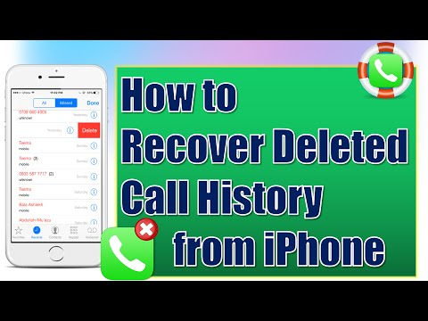 How to Recover Deleted or Lost Call History/Logs on iPhone for Free
