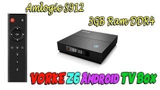 VORKE Z6 Mощный Android TV Box 3GB Ram DDR4 Amlogic S912 из Китая с Алиэкспресс