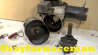 Oil gun burner disassembly