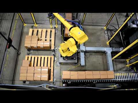 Robotic Palletizing Dual Lanes