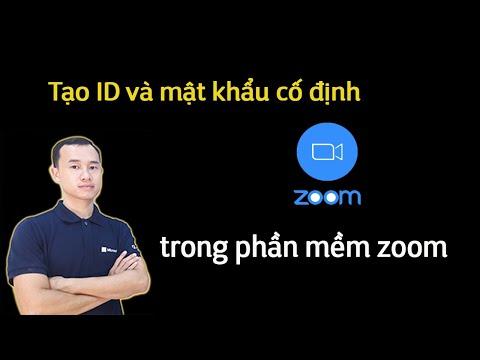 Tạo ID và mật khẩu cố định trong phần mềm Zoom cho giáo viên dạy trực tuyến