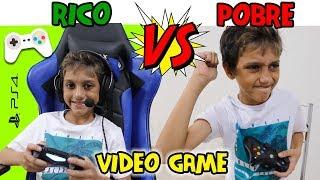 RICO VS POBRE JOGANDO VÍDEO GAME - Gustavo TV