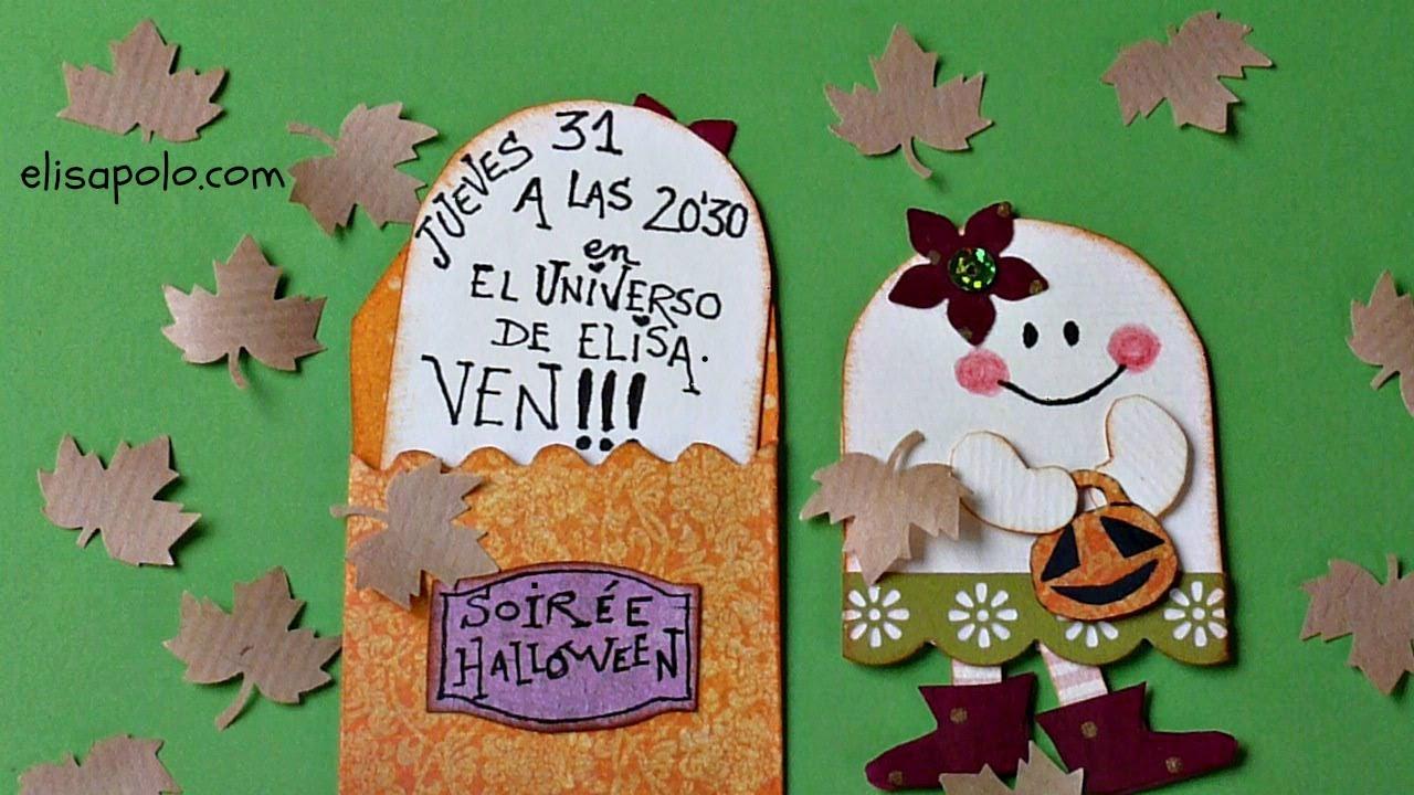 DIY, Tarjeta para Halloween y el Día de los Muertos, Halloween Party Invitation.