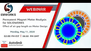 Permanent Magnet Motor Analysis for SOLIDWORKS - Effect of Air Gap Length on Motor Design
