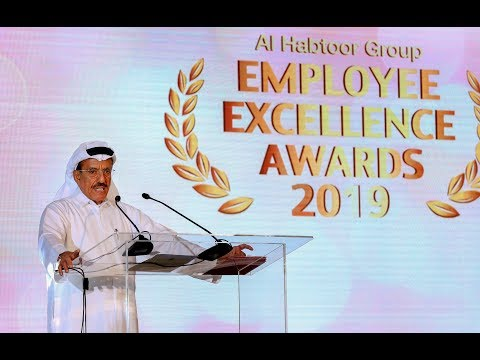 <span style='text-align:left;'>Founding Chairman Khalaf Ahmad Al Habtoor speaks to Habtoorian employees, VIP guests and online audience at the annual Al Habtoor Group Employee Excellence Awards 2019.</span>