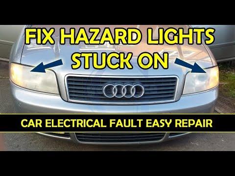 FIX CAR ELECTRICAL PROBLEM HAZARD LIGHT STUCK ON AUDI DIY TURORIAL