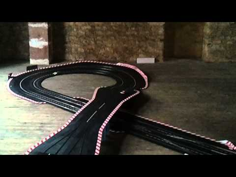 carrera digital 124  slot cars four lanes track