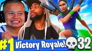 MY LITTLE BROTHER PLAYS LIKE TSM DAEQUAN IN SOLO SQUADS!! SO MANY KILLS SHOTGUN ONLY FORTNITE BR!!