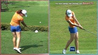 [Slow HD] LEE Mi-Rim 2012 Driver Golf Swing Dual View_KLPGA Tour (4)