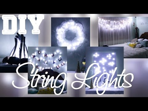 5 diys with string lights online utility and electricity for Room decor laurdiy