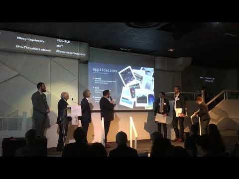 Prix International Théophile Legrand de l'Innovation Textile -Intervention lauréat 2ème Prix