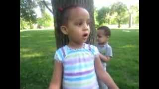 Ethiopian Girl Reciting The Amharic Fidel