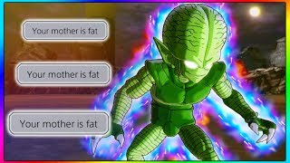 He Trash Talked on Mic, So I Beat Him With a Saibaman. WITH MESSAGES! | Dragon Ball Xenoverse 2