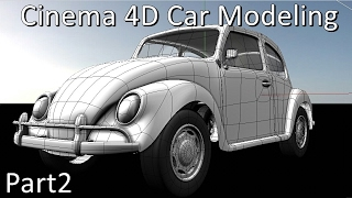 Tutorial how to model a car in cinema 4d starting from a cube cinema 4d car modeling beetle vw pt2 malvernweather Images