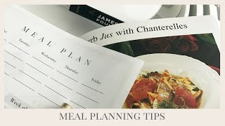 HOME MANAGEMENT | Meal Planning Tips