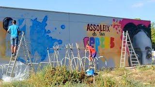 Graffiti en la Escola Mediterrània de Les Roquetes