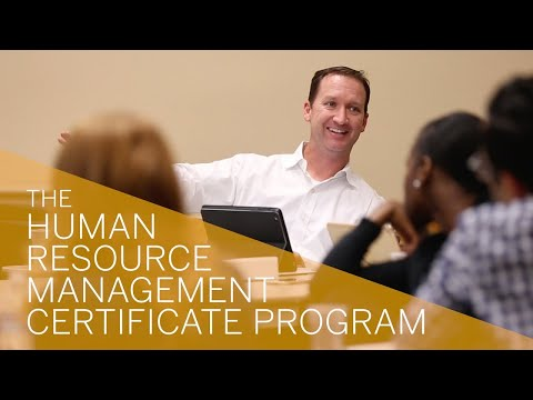 The Human Resource Management Certificate Program - YouTube