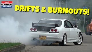JDM Tuner Cars Leaving Meets! - DRIFTS & BURNOUTS!