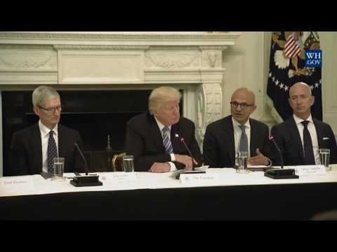 , title : 'President Trump Participates in an American Technology Council Roundtable'