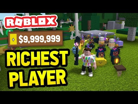 RICHEST PLAYER in ROBLOX GARDENING SIMULATOR