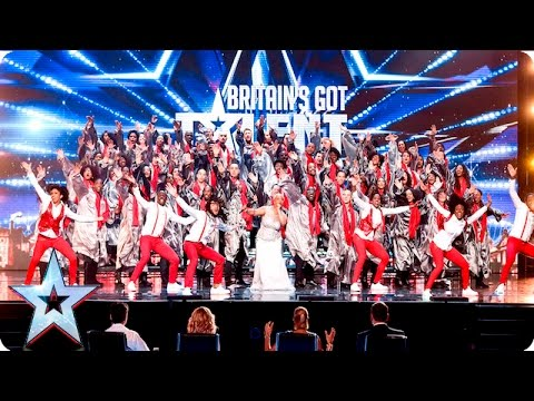 The 100 Voices Of Gospel go for gold! | Week 2 Auditions | Britain's Got Talent 2016 (видео)