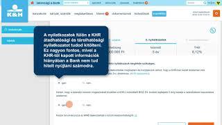 K&H személyi kölcsön igénylés e-bankban