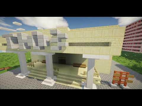 Город в Minecraft | Якко-Уорнерск | #64 Молодёжный театр + почта села Васильки