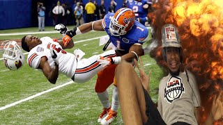 LIFTED HIM FROM HEAVEN TO HELL! COLLEGE FOOTBALL HARDEST HITS REACTION!!
