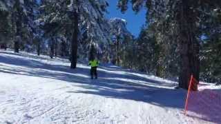 preview picture of video 'Troodos Skiing, Second Practise, Sled Dogs Snowskates : Cyprus'