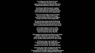The Streets of Laredo Lyrics
