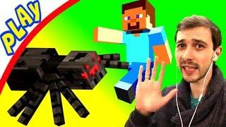 ПРоХоДиМеЦ со СТИВОМ Начали Строить Свой ЗАМОК! Встреча с ПАУКОМ! #5 Игра для Детей - Майнкрафт