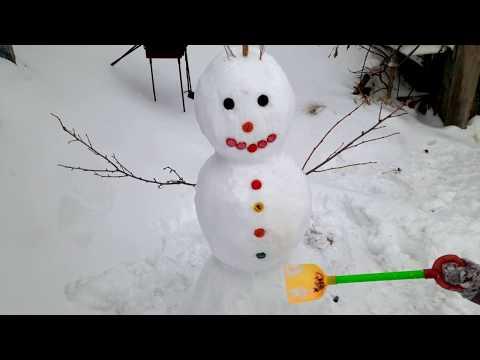 Vlog за несколько дней.Слепили снеговика.Девочки ругаются.Пробуем глину для лица.