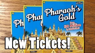 NEW TICKETS! 3X $5 Pharaoh's Gold! ✦ TEXAS LOTTERY SCRATCH OFF TICKETS
