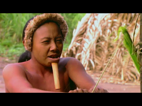 Isolated - Amazon Indians showing the way | Naturist Association