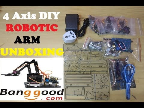 4 Axis DIY Robotic ARM With Arduino UNO and Potentiometer from Banggood Unboxing