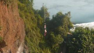 preview picture of video '[2/2] - Uganda - Bungee Jumping at Adrift, Jinja - September 4, 2009'
