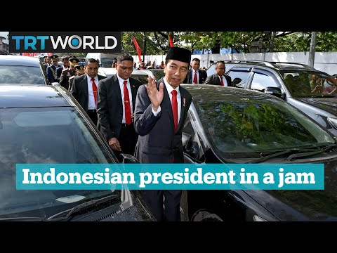 Indonesian President In A Jam