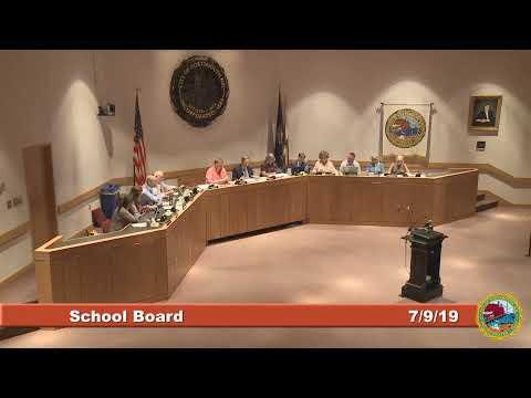 School Board 7.9.19