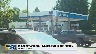 Couple ambushed, robbed at gas station in northeast Portland