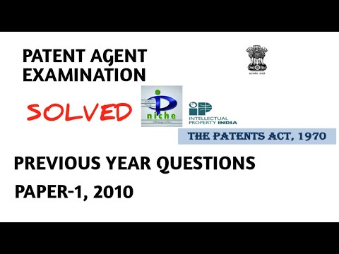 Indian Patent Agent Examination Q Paper-1, 2010 ... - YouTube