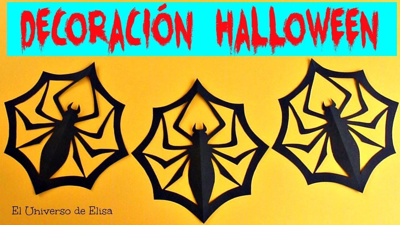Cómo Hacer Arañas de Papel, Decoración para Halloween / Día de los Muertos, Arañas