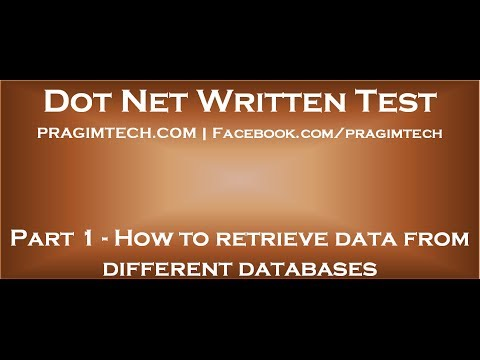 Part 1   How To Retrieve Data From Different Databases In Asp Net Mp3