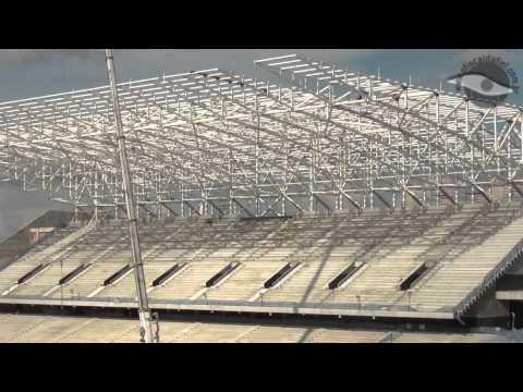 Obras na Arena Corinthians em 17/01/2013