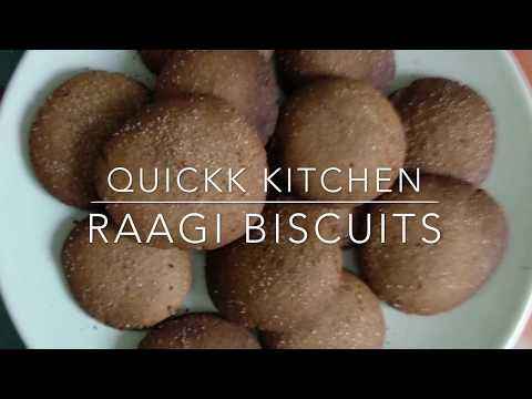 Quickk RAAGI biscuits/cookies | no maida, no eggs & no sugar | RAAGI cookies for kids | easy to make