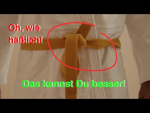 Judo-Gürtel binden - 2 Methoden & 3 Varianten [DIY]