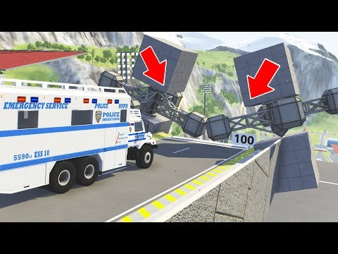 BeamNG Drive - Satisfying High speed Epic Jumps #17