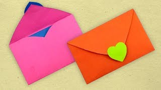 How To Make An Envelope From A Heart Shaped Paper For Valentine's Day