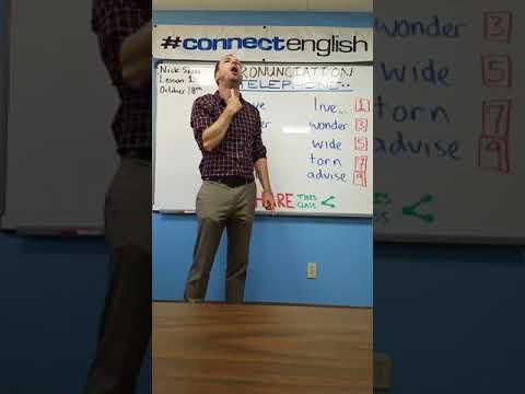 Connect English Pronunciation Telephone Video, Volume 14 - Pacific Beach Campus