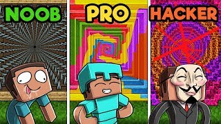 Minecraft - NOOB vs. PRO vs. HACKER - Ultimate Dropper Challenge!